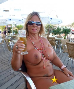 Nude chrissy cap d agde something