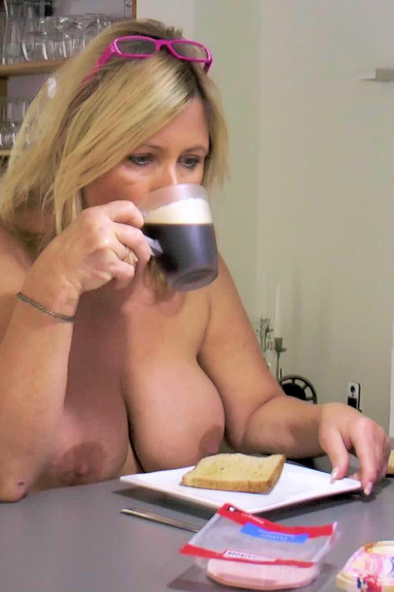 Beobachte mich beim Frühstück